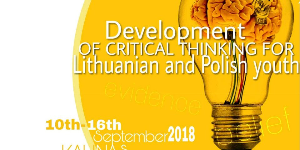 Development of critical thinking for Lithuanian and Polish youth